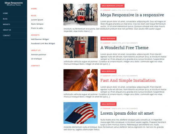 CWP MegaResponsive wordpress theme