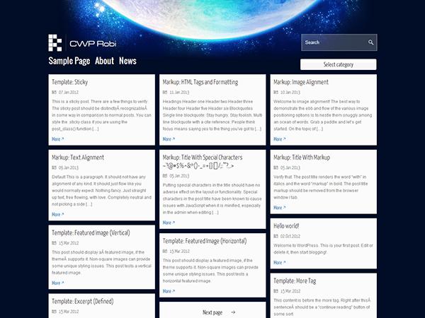 CWP Robi theme wordpress gratuit