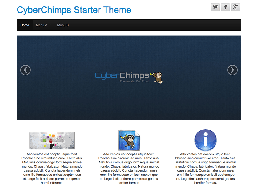 CyberChimps free wordpress theme