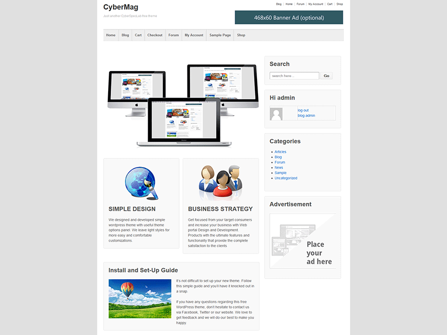 CyberMag free wordpress theme