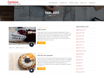 Cyclone Blog child theme