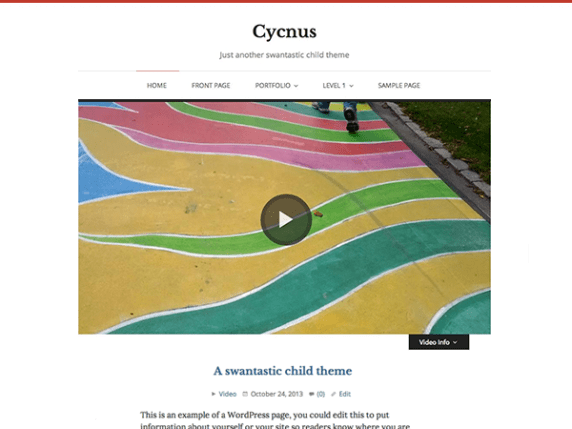 Cycnus wordpress theme