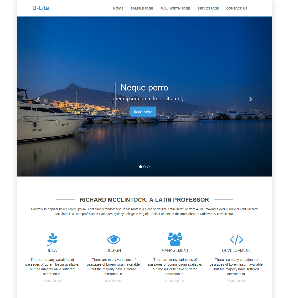 D-lite free wordpress theme