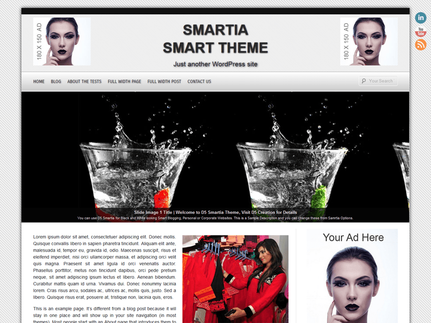 D5 Smartia free wordpress theme