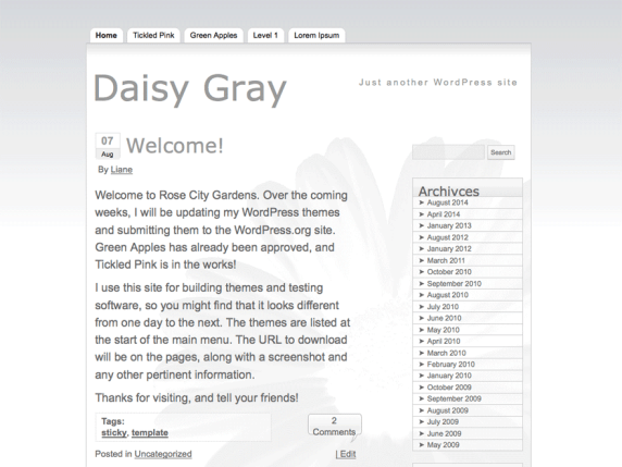Daisy Gray wordpress theme