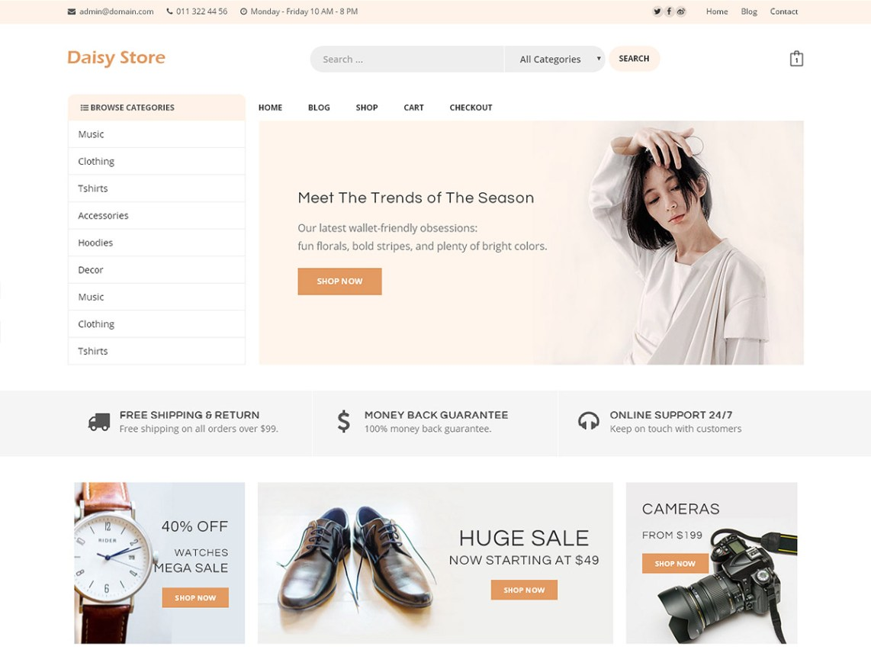 Daisy Store - WordPress theme | WordPress org
