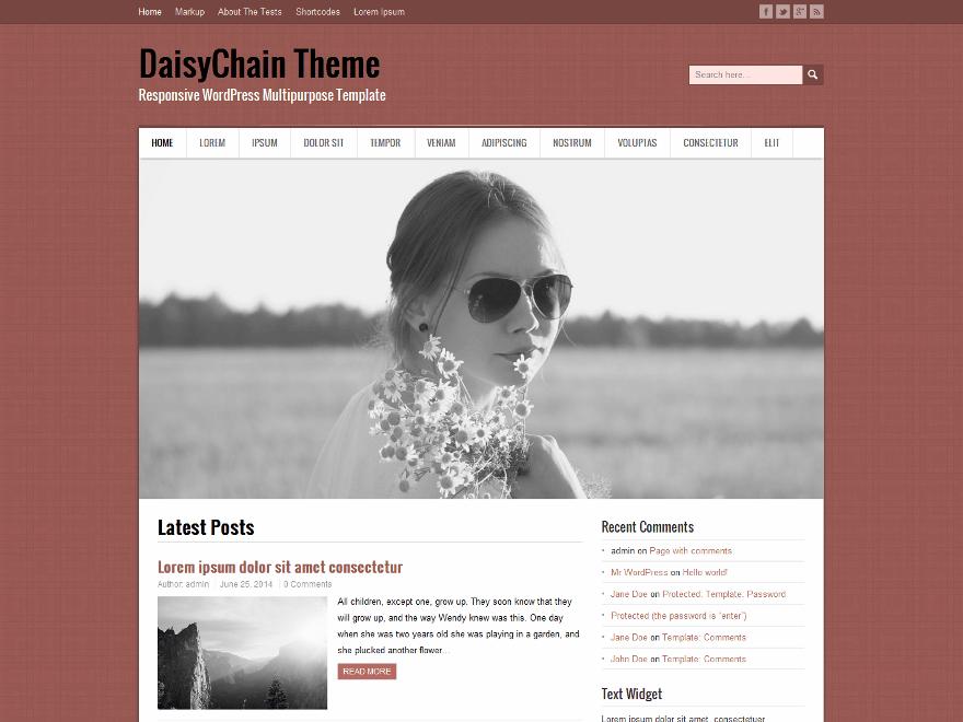 DaisyChain free wordpress theme