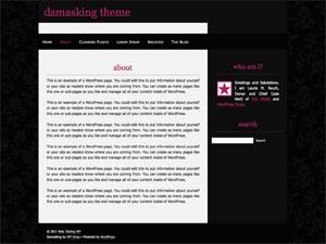 Damasking free wordpress theme