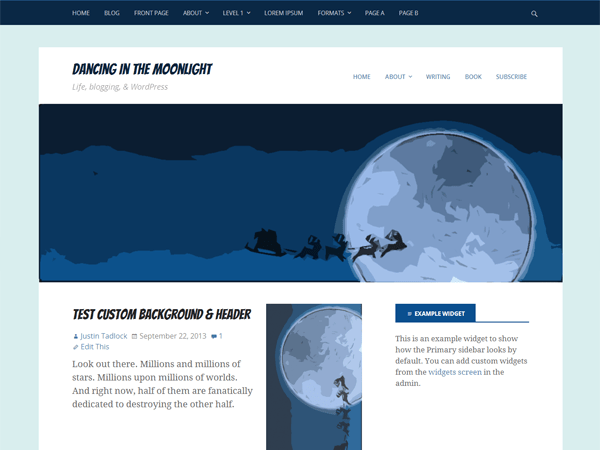 Dancing In The Moonlight theme wordpress gratuit