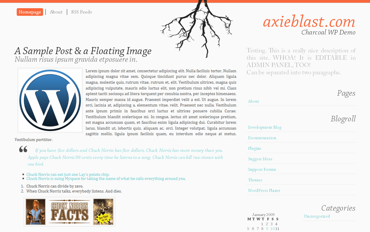 Dark Autumn free wordpress theme