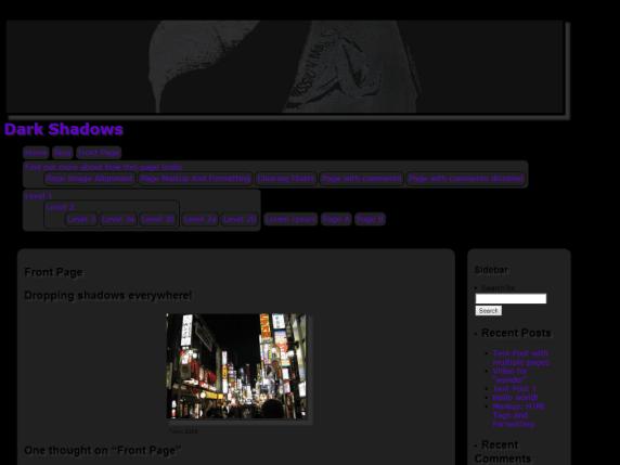 Dark Shadows wordpress theme