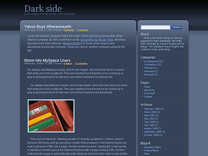 Dark Side free wordpress theme