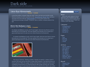 Dark Side wordpress theme