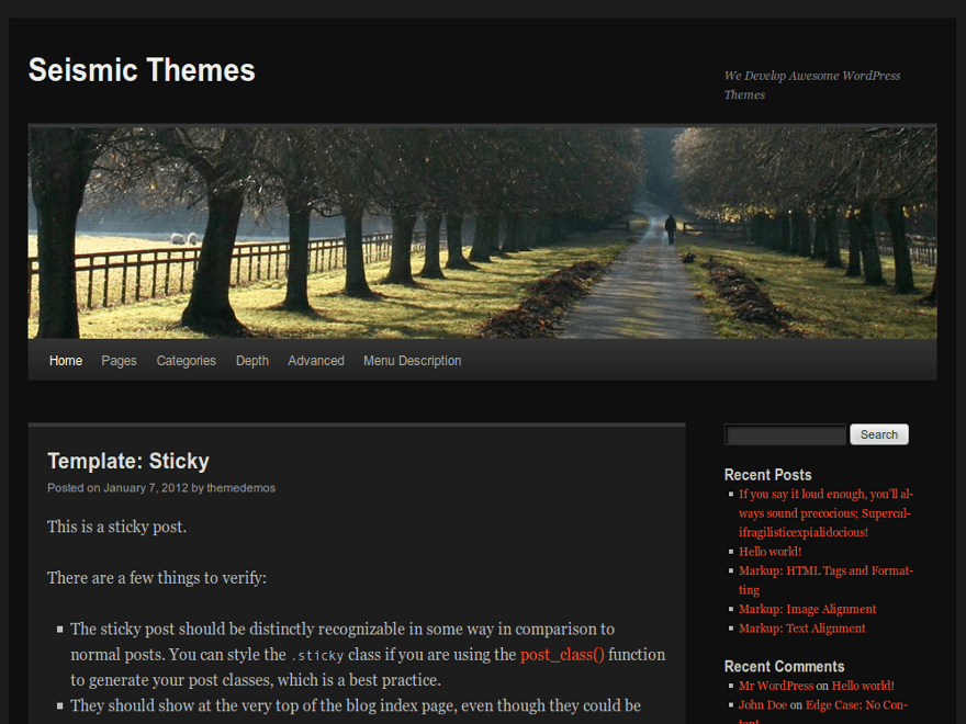 Dark TT free wordpress theme