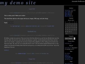 darkbasic wordpress theme