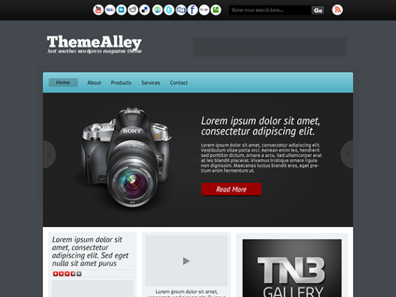 Darke wordpress theme