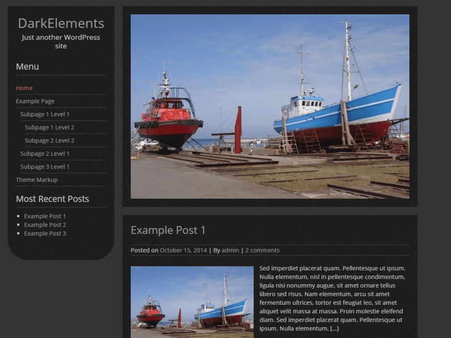 DarkElements — Temas WordPress gratuitos