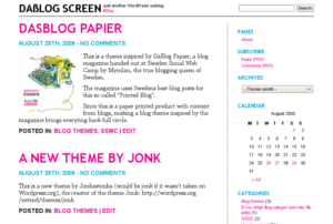 Daßlog Screen free wordpress theme