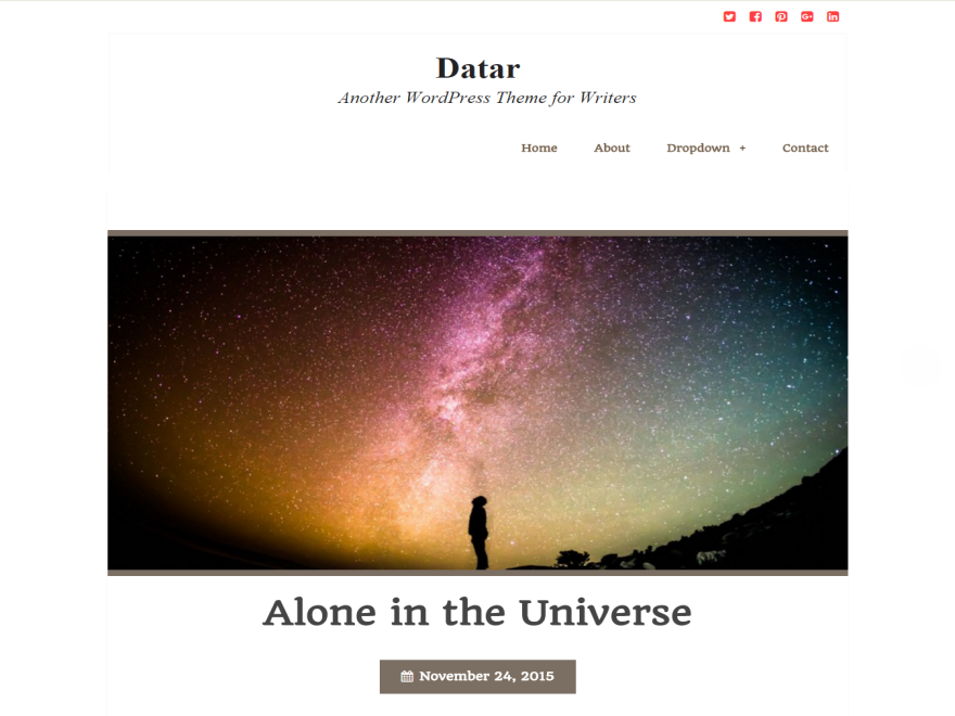 Datar free wordpress theme