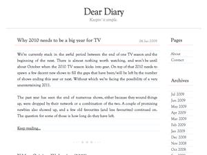 Dear Diary free wordpress theme
