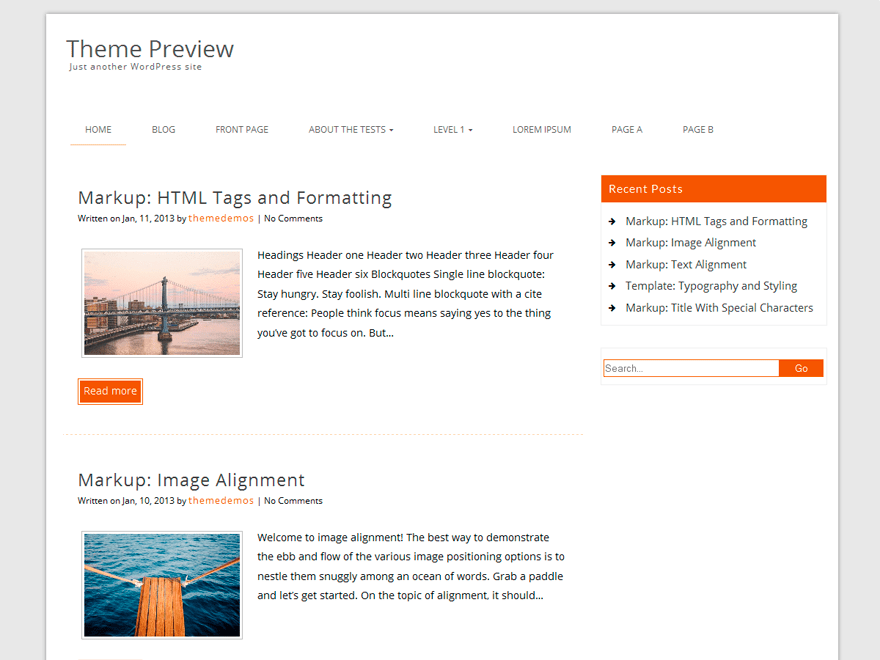 Decent free wordpress theme