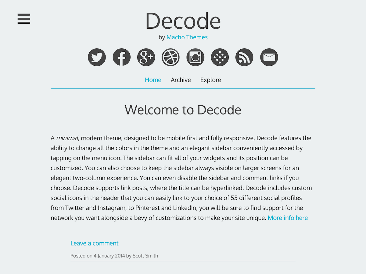 Decode wordpress theme