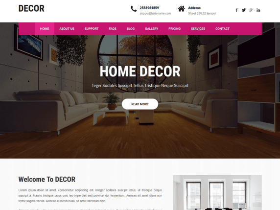 Decor Lite Wordpress Theme Wordpress Org