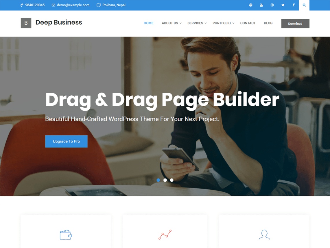 Deep Business Theme Free Download