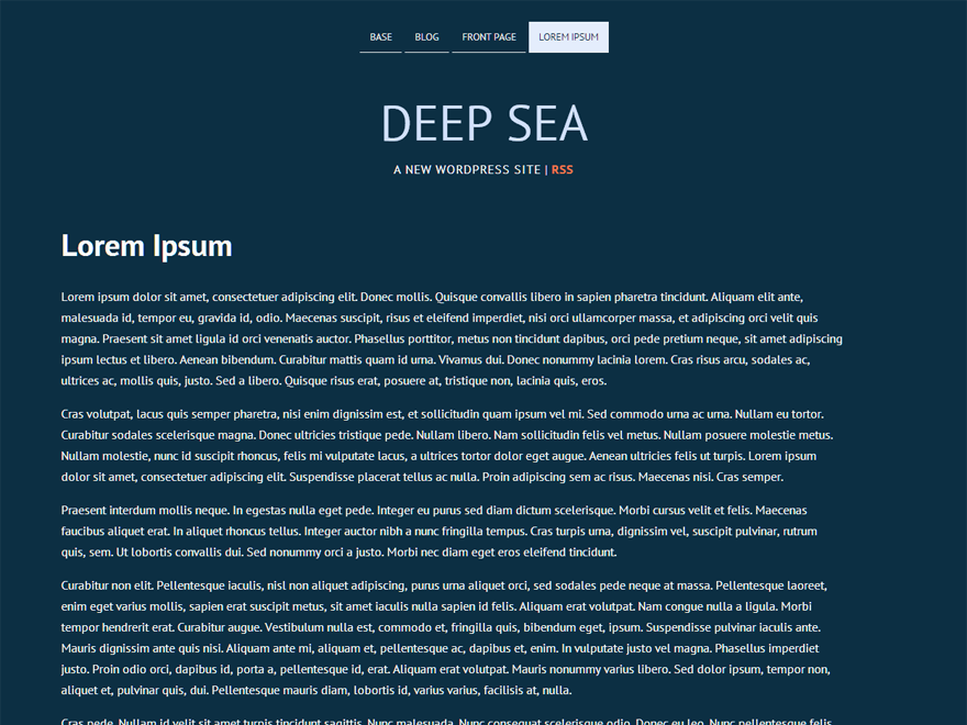 Deep Sea free wordpress theme