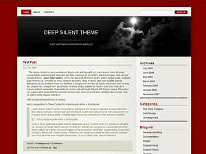 Deep Silent free wordpress theme