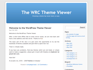 Default free wordpress theme