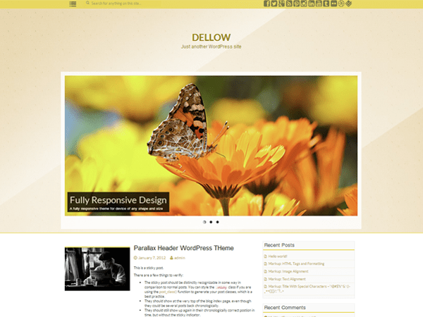 Dellow free wordpress theme