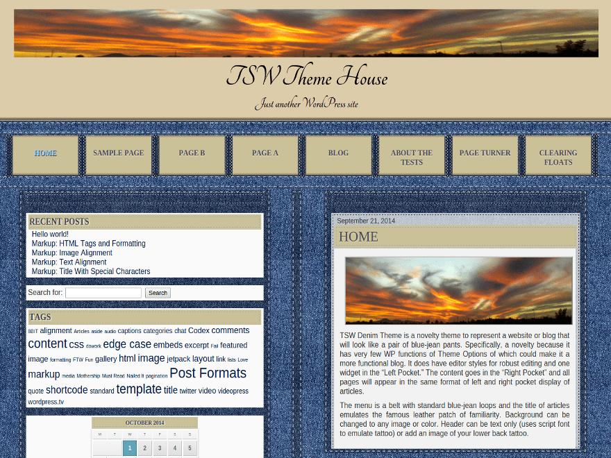 Denim free wordpress theme