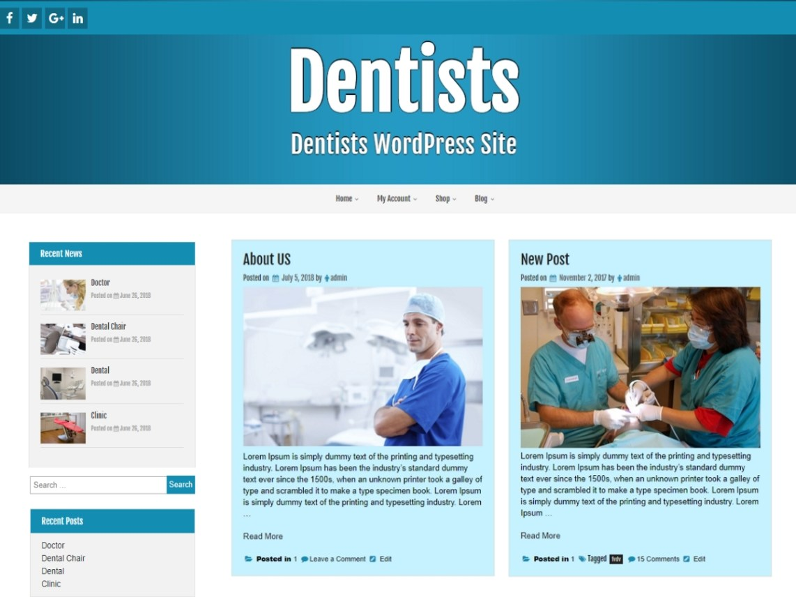 dentists wordpress org