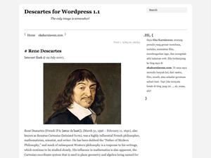 Descartes free wordpress theme