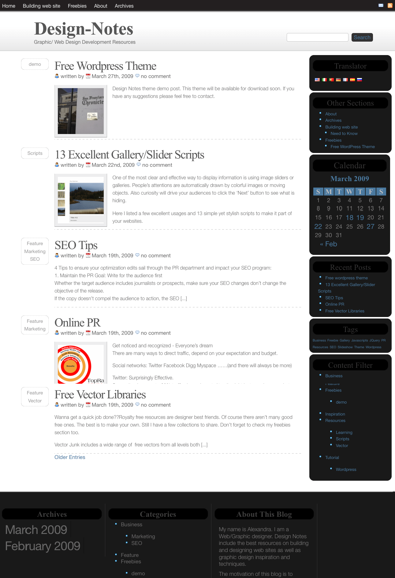 Design Notes free wordpress theme