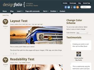 Designfolio theme wordpress gratuit
