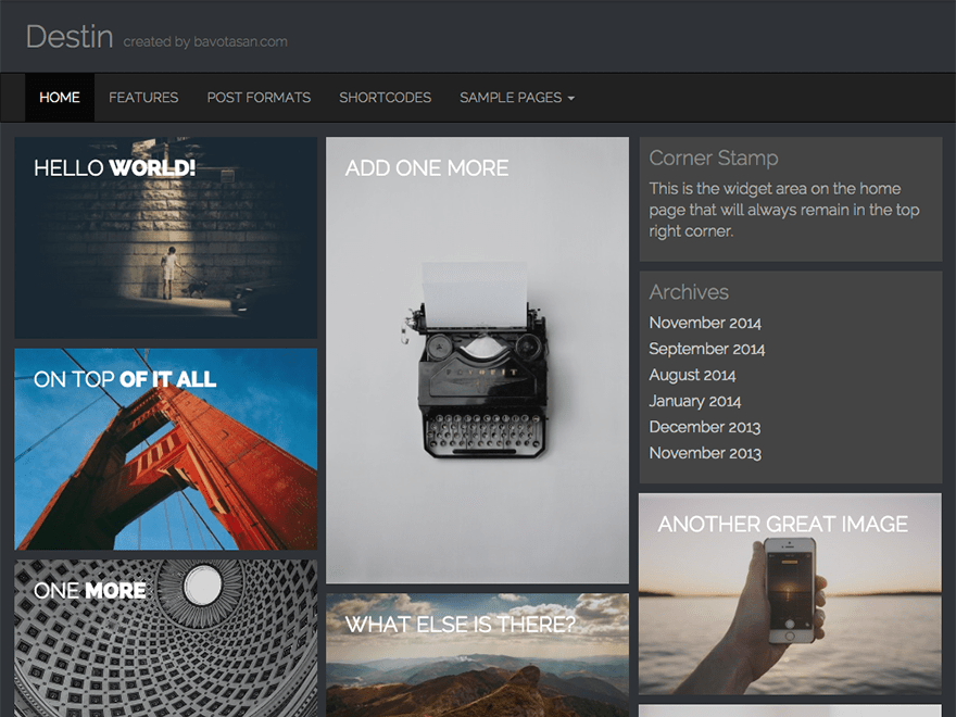 Destin Basic free wordpress theme