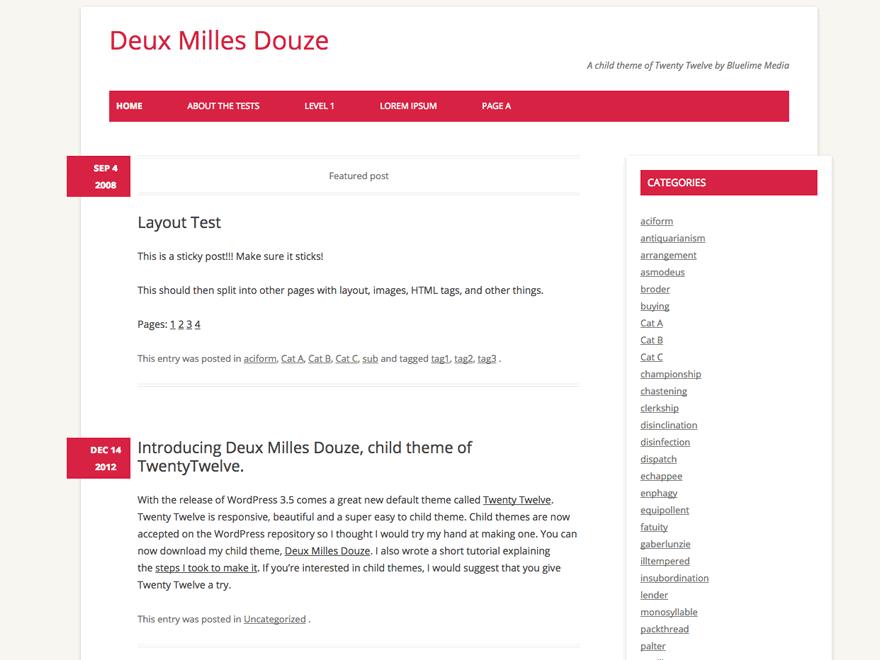 Deux Milles Douze free wordpress theme