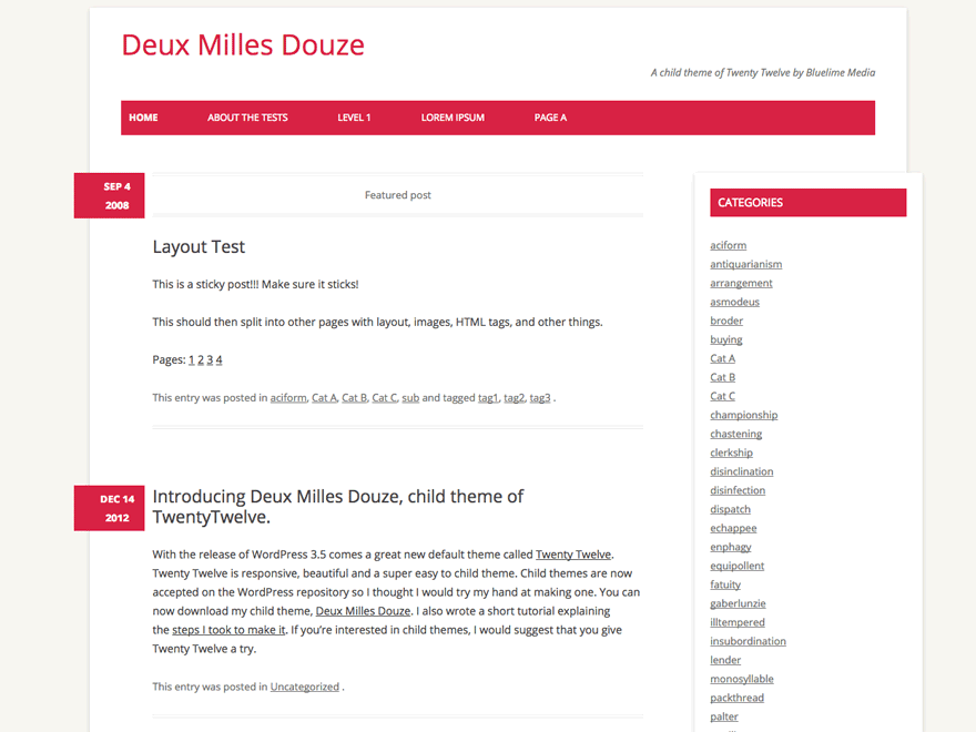 Deux Milles Douze | WordPress.org