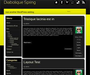 Diabolique Spring free wordpress theme