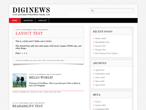 Diginews free wordpress theme