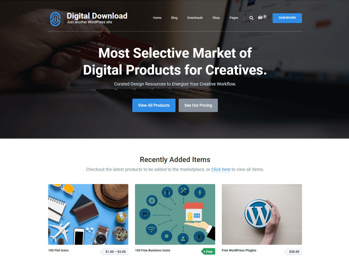 Digital Download Wordpress Theme Wordpress Org