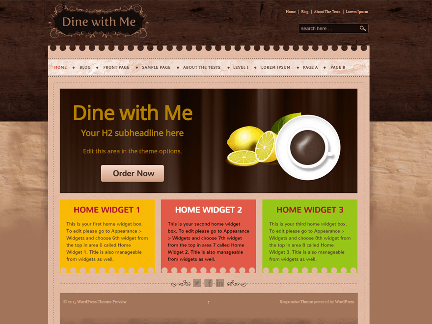 Dine With Me theme wordpress gratuit