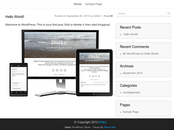 Dinky free wordpress theme