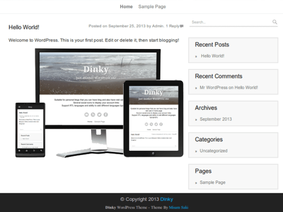 Dinky wordpress theme
