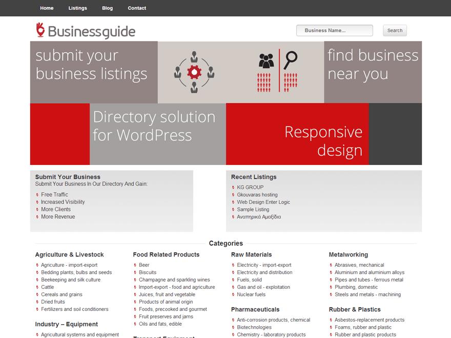 Directory free wordpress theme