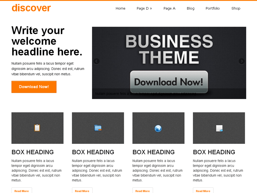 discover free wordpress theme