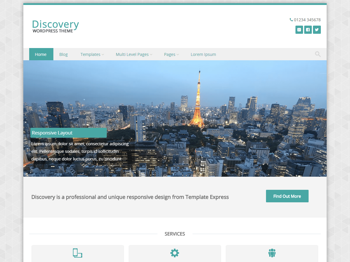 Discovery free wordpress theme