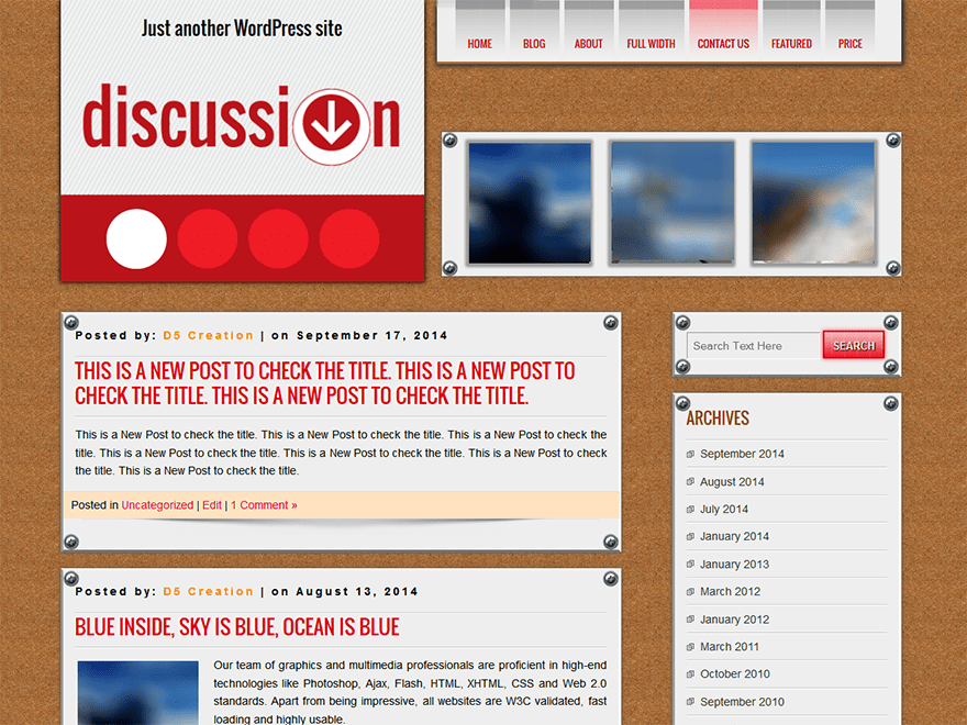DISCUSSION free wordpress theme